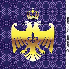 Golden Double headed Eagle Royal Logo