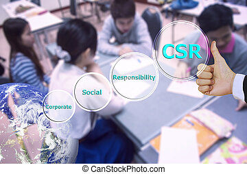 pressing like corporate social responsibility CSR and small...