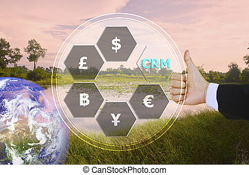pressing like on customer relationship management (CRM) with...