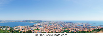 Panorama of Sete taken from Mont Saint Clair