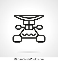 Longboard suspension black line design vector icon - Extreme...
