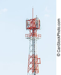 Antenna repeater - Red and white color antenna repeater...