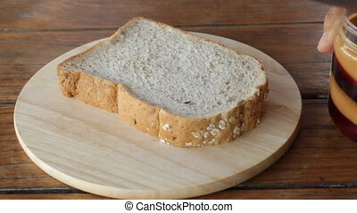 Topping whole wheat bread
