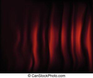 Fragment dark red stage curtain