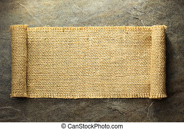 burlap hessian sacking on background texture