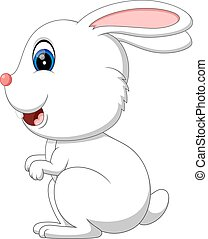 cute rabbit - illustration of cute rabbit cartoon