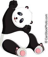 cute panda - illustration of cute baby panda cartoon