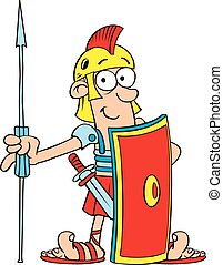 Roman Legionnaire Cutout - Vector Illustration of Roman...