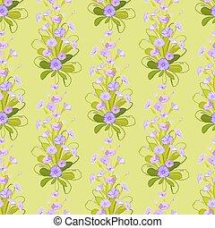 Violet primroses pattern. - Spring summer floral seamless...