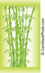 Stalks and bamboo leaves