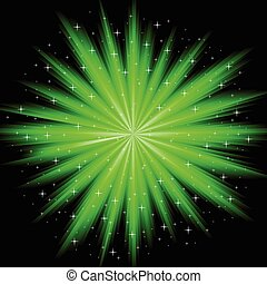 abstract firework - The vector illustration contains the...