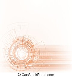 Abstract vector lines. - Bright background Concept...