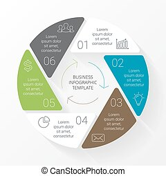 Vector flat circle arrows infographic Template for cycle...