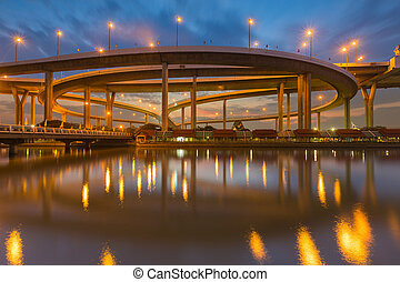 Industrial Ring Road Bridge - Twilight over Industrial Ring...