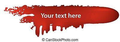 Blood bullet - Concept with red blood bullet symbol. Crime...