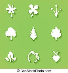 Flat eco symbols