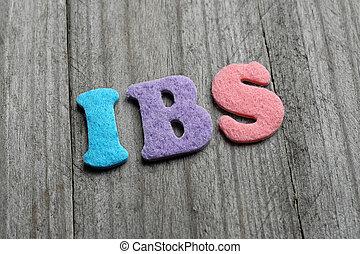 ibs, (Irritable, intestino, Syndrome), siglas, en, de...