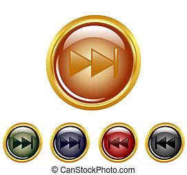 set of a rewind buttons.