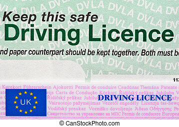 Driving Licence - UK two part Driving Licence