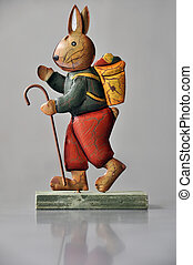 Easter decoration - marching bunny - Retro easter decoration...
