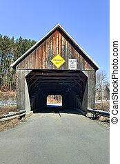 Vermont Covered Bridge - Lincoln Covered Bridge in West...
