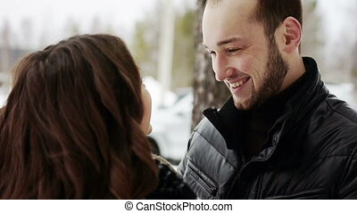 Happy young couple embracing lots of laughs