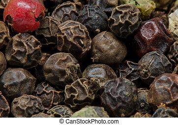 Peppercorns Close Up - Peppercorns close up with a macro...