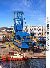 Gantry Crane - Big Gantry Crane in port of Gdynia, Poland