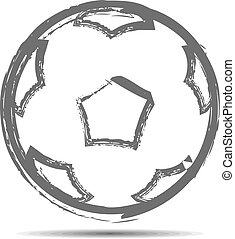 The soccerball Vector illustration - The soccerball drawn...