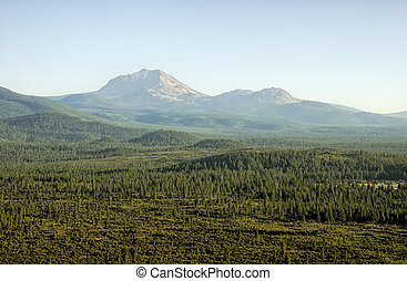 Mount Lassen in July Afternoon