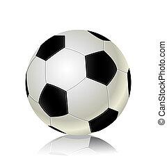 futbol, pelotas, icono,