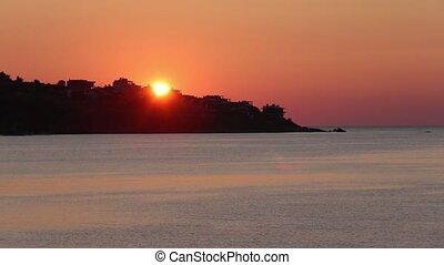 Sea Coast Sunrise View (Bulgaria). - Beautiful sea coast...