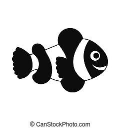 Clownfish flag icon, simple style - Clownfish flag icon in...