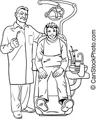 dentist and patient Healthy patient - The patient on...