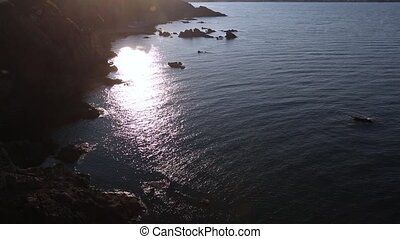 Evening Sea Rocky Coast View. - Evening sea rocky coast view...