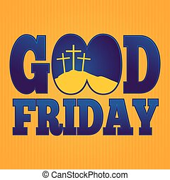 Religious Simple Good Friday Background - Vector...