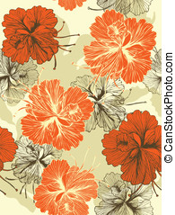 Seamless flower background. Easy to edit vector image. Ready...