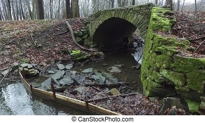 Old Stone Bridge in the Forest - The old stone bridge over...