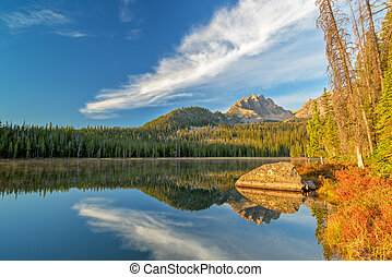 Beautiful lake in the Idaho mountains - Early morning light...