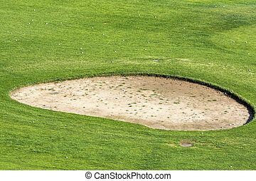 Golf course sand pit