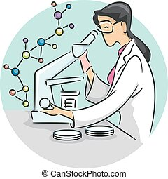 Girl Lab Research Icon
