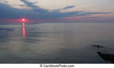 Sea Sunrise and Fishing Nets - Beautiful fascinate sea...