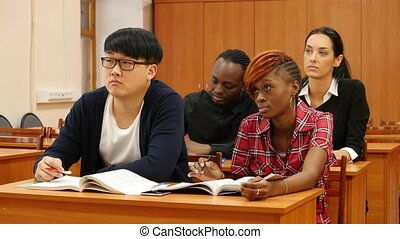 Group of Students at University on Classes