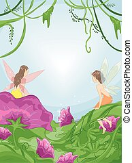 Fairies Flowers Forest