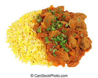Lamb Rogan Josh Curry With Rice - Fragrant lamb rogan josh...
