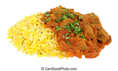 Lamb Rogan Josh Curry With Rice - Fragrant lamb rogan josh...