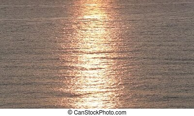 Shining Suntrack on Sea Water