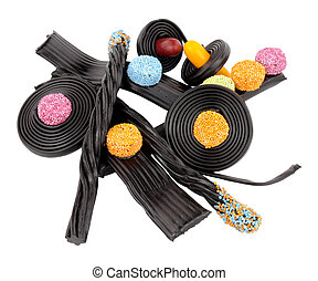 Liquorice Novelty Candy - Assortment of traditional novelty...