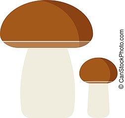 Mushrooms cartoon Illustration on white background -...