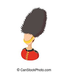 A Royal Guard icon, cartoon style - A Royal Guard icon in...